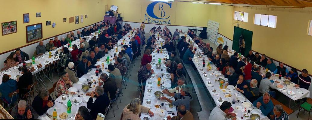 Almoço do 35º aniversário do clube com 200 sócios em 2019